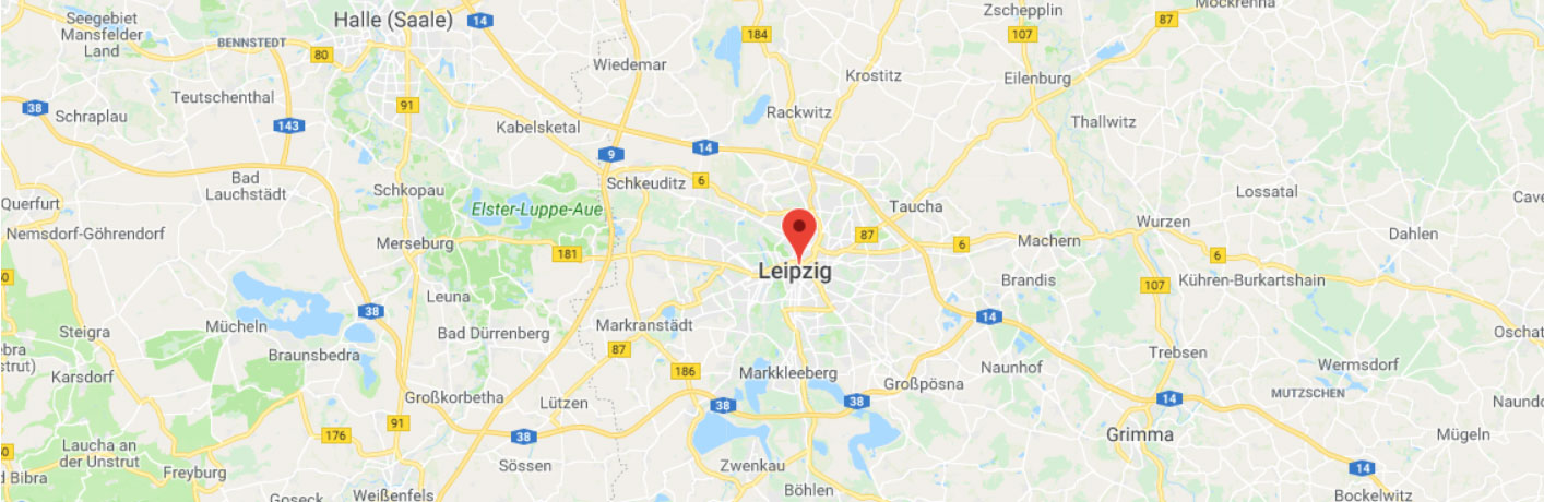 Leipzig on the map